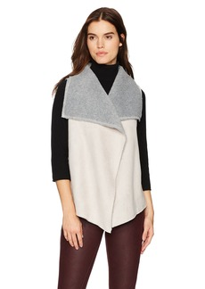 Three Dots Women's Faux Shearling Loose Mid Vest