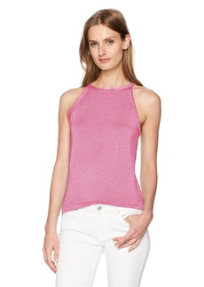 Three Dots Women's Feeder Stripe Cutaway Tank  M