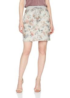 Three Dots Women's Floral Terry Short Tight Mini Skirt