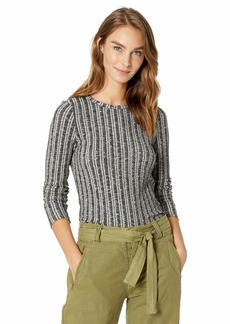 Three Dots Women's GQ2660 Variegated Sweater l/s Crewneck