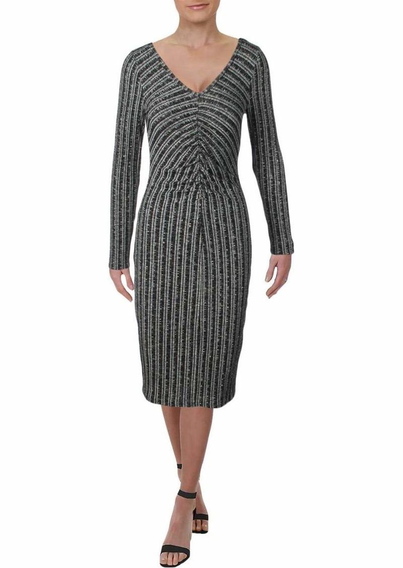 Three Dots Women's GQ5865 Variegated Sweater Shirred Dress