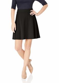 Three Dots Women's HBY3250 Ponte Flared Skirt