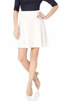 Three Dots Women's HBY3250 Ponte Flared Skirt Off