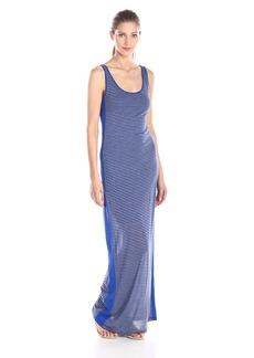 Three Dots Women's Heathered Stripe Column Maxi Dress