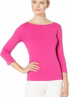 Three Dots Women's Heritage Knit 3/4 SLV British tee  xs