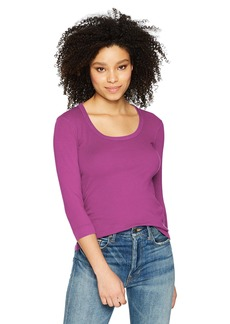 Three Dots Women's Heritage Knit 3/4 SLV Short Tight top  Extra Small