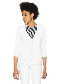 Three Dots Women's Heritage Knit Short Tight Cardigan