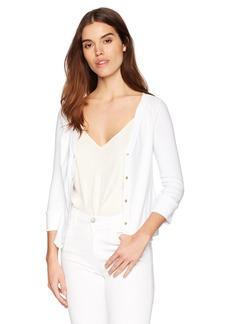 Three Dots Women's Heritage Knit Short Tight Cardigan  Extra Large