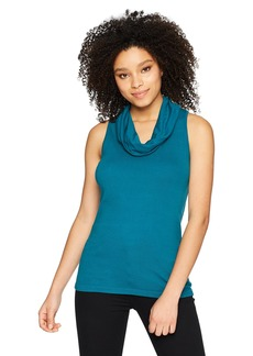 Three Dots Women's Heritage Knit Short Tight Cowl Neck Tank