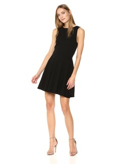Three Dots Women's Heritage Knit Tie Short Loose Dress
