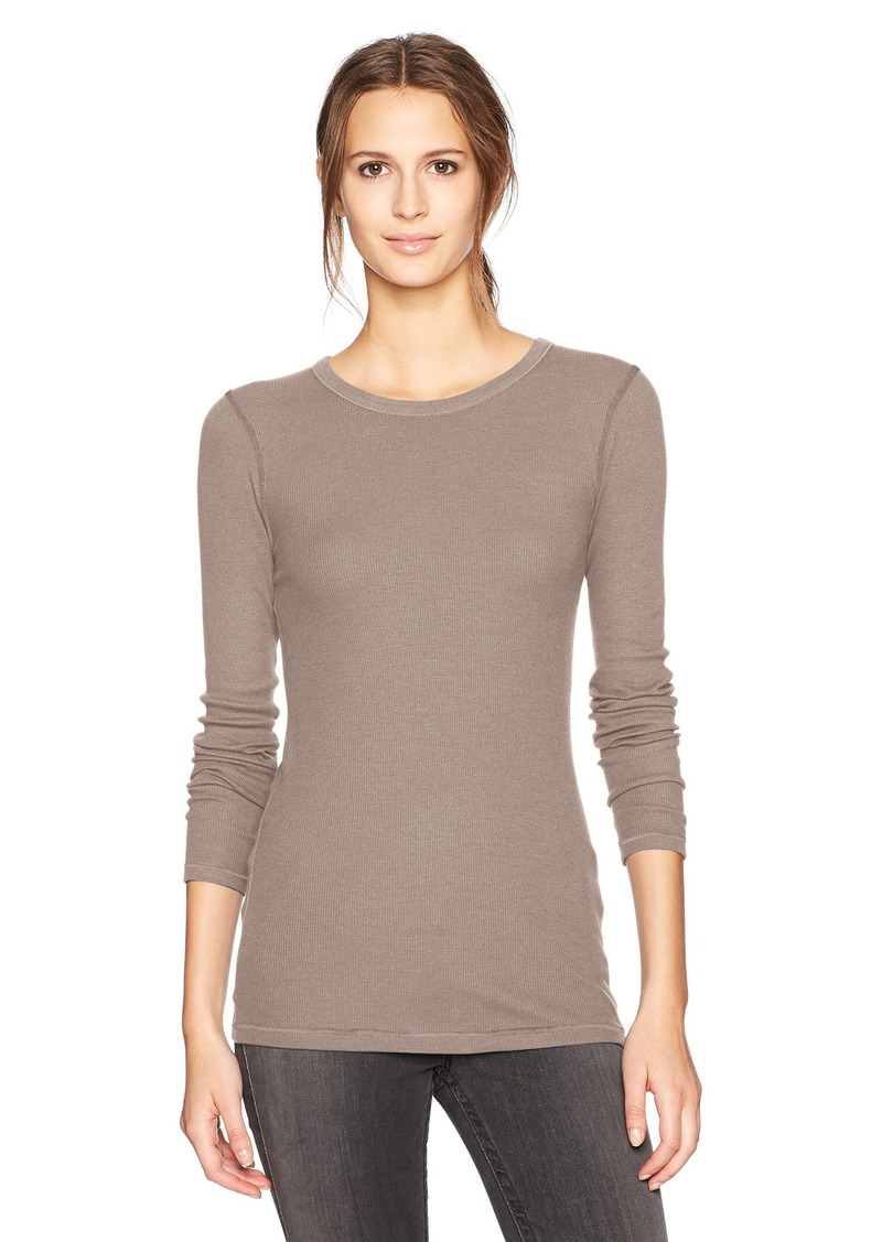Three Dots Women's Heritage Rib Christy l/s mid Shirt