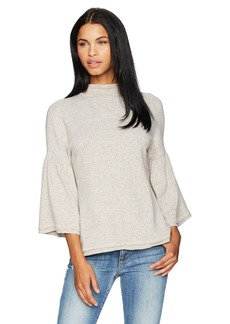 Three Dots Women's High Neck Loose Mid Sweater