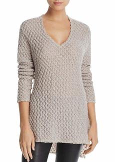 Three Dots Women's Honeycomb mid Loose Sweater