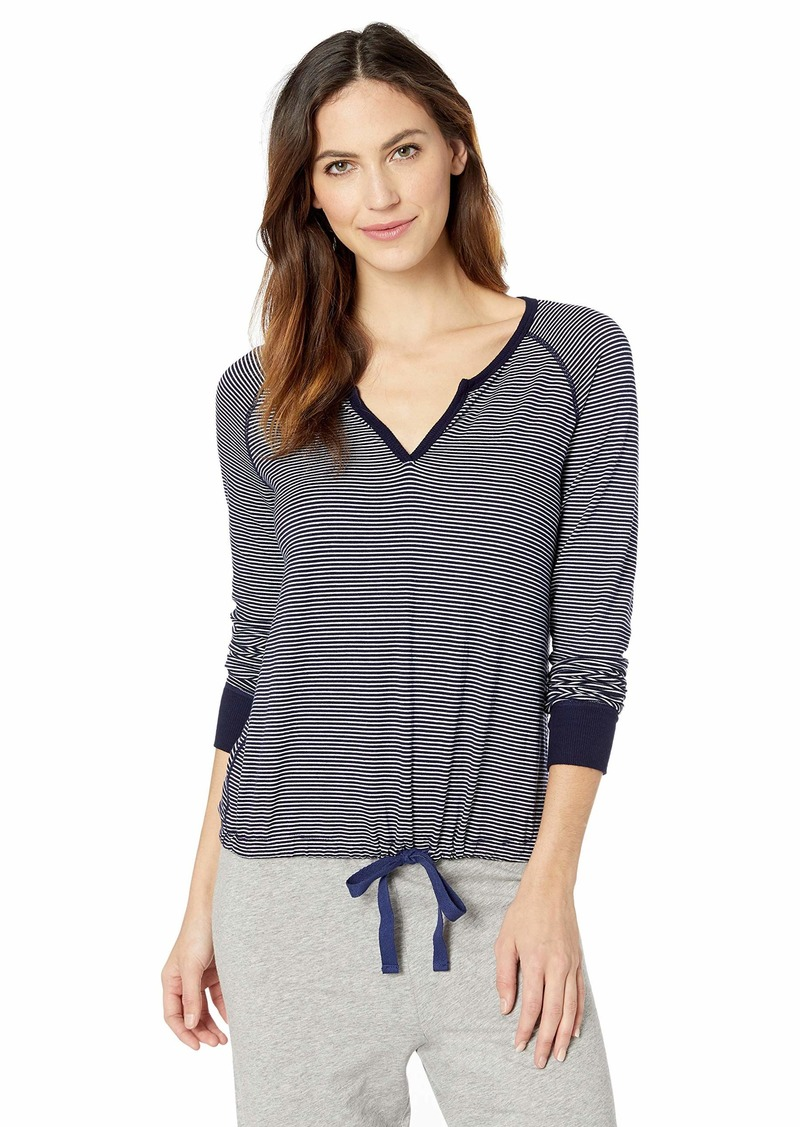 Three Dots Women's HT2776 Feeder Stripe Pajama TOP