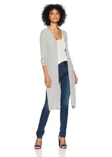 Three Dots Women's Hyannis Stripe Loose Long Cardigan