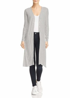 Three Dots Women's Hyannis Stripe Loose Long Cardigan  Extra Small
