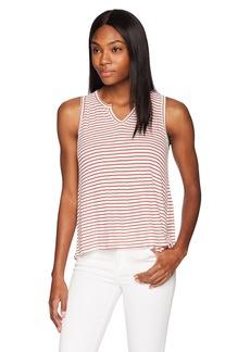 Three Dots Women's Hyannis Stripe Loose Short Shirt