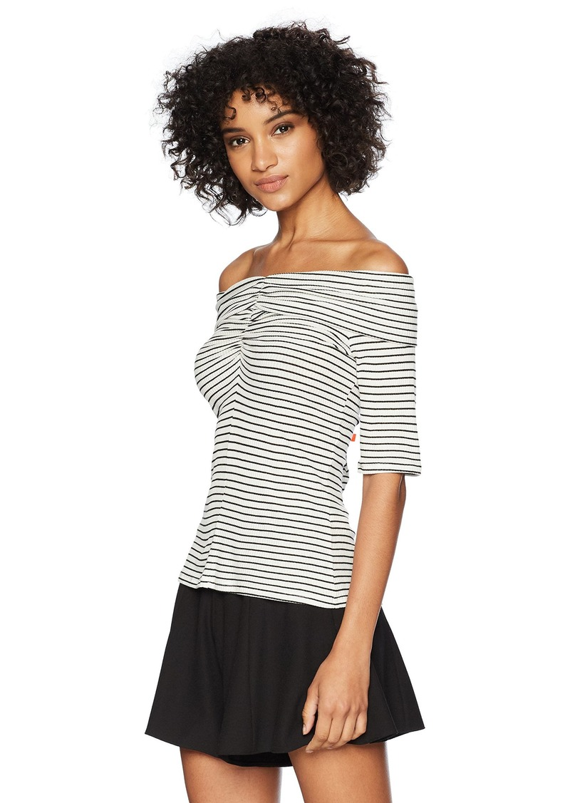 Three Dots Women's Hyannis Stripe Tight Short top