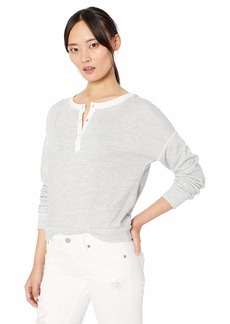 Three Dots Women's JQ2820 Beach Terry Cropped Sweatshirt