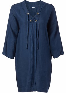 Three Dots Women's Lace-up Cocoon Dress  M