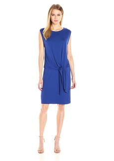 Three Dots Women's Layered Tie Front Dress  M