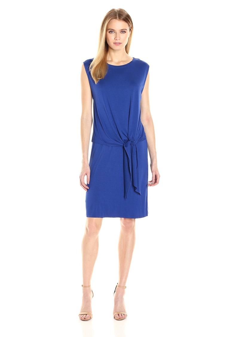 Three Dots Women's Layered Tie Front Dress  M