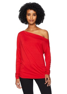 Three Dots Women's LD2655 Refined Jersey Off Shoulder top
