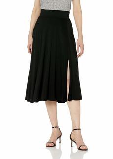 Three Dots Women's LD3248 Refined Jersey Flared Skirt