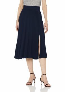 Three Dots Women's LD3248 Refined Jersey Flared Skirt Night IRIS