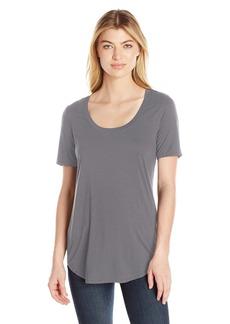 Three Dots Women's Long Shirtail Tee  L