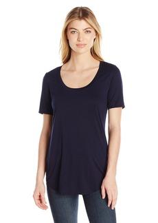 Three Dots Women's Long Shirtail Tee  S