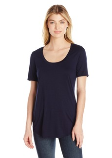 Three Dots Women's Long Shirtail Tee  S