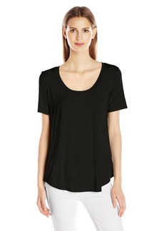 Three Dots Women's Long Shirtail Tee  XS