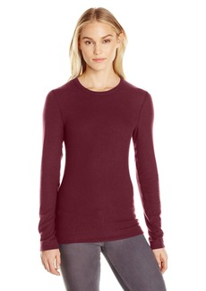 Three Dots Women's Long Sleeve Crew Brushed Sweater  L