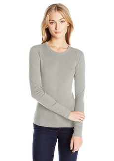 Three Dots Women's Long Sleeve Crew Neck Tee  XS