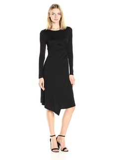 Three Dots Women's Long Sleeve Drape Dress  L