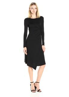 Three Dots Women's Long Sleeve Drape Dress  M