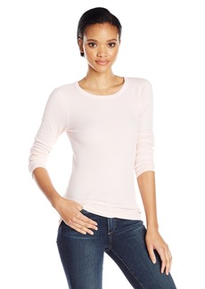 Three Dots Women's Long Sleeve Thermal Crew  L