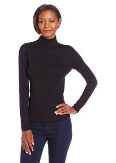 Three Dots Women's Long Sleeve Turtleneck Top