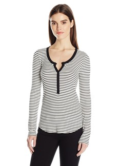 Three Dots Women's Long Sleeved Henley  XS