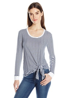 Three Dots Women's Long Sleeved Knot Top  M
