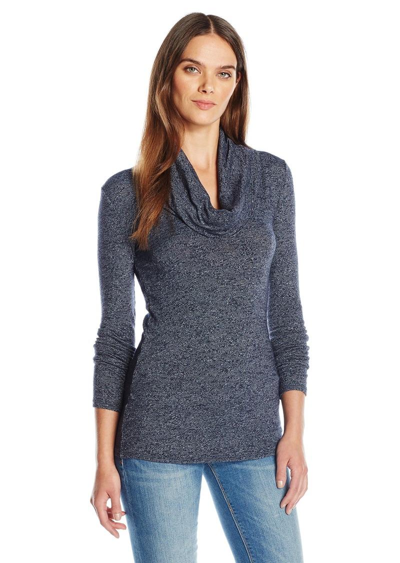 Three Dots Three Dots Women's L/s Cowlneck Tunic Sweater Slub ...