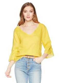 Three Dots Women's lt Weight Linen Loose Short top