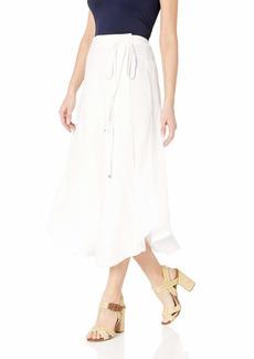 Three Dots Women's LW3257 Woven Linen WRAP Skirt