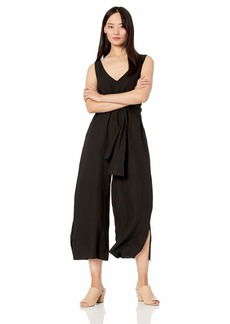 Three Dots Women's LW945 Woven Linen TIE Front Jumpsuit