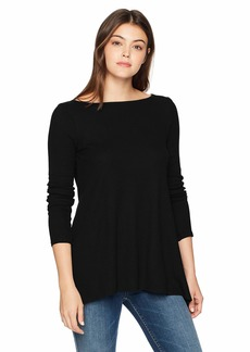 Three Dots Women's Mini Thermal Loose Long Shirt  Xtra Small