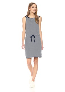 Three Dots Women's Montauk Stripe Sleeveless Short Loose Dress Night iris Extra Small