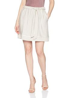 Three Dots Women's Nantucket Stripe Terry Short Loose Skirt