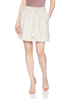 Three Dots Women's Nantucket Stripe Terry Short Loose Skirt