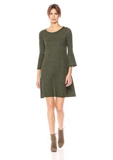 Three Dots Women's Nepps Jersey Flutter Slv Short Loose Dress